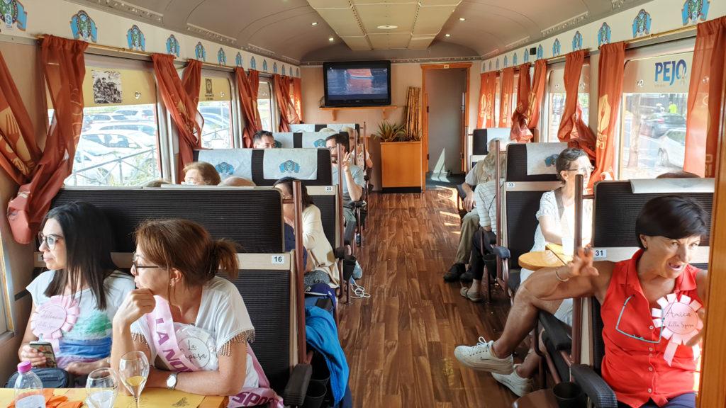 interni treno dei sapori