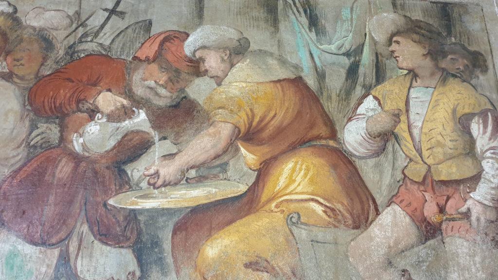 Affresco del Romanino a Pisogne