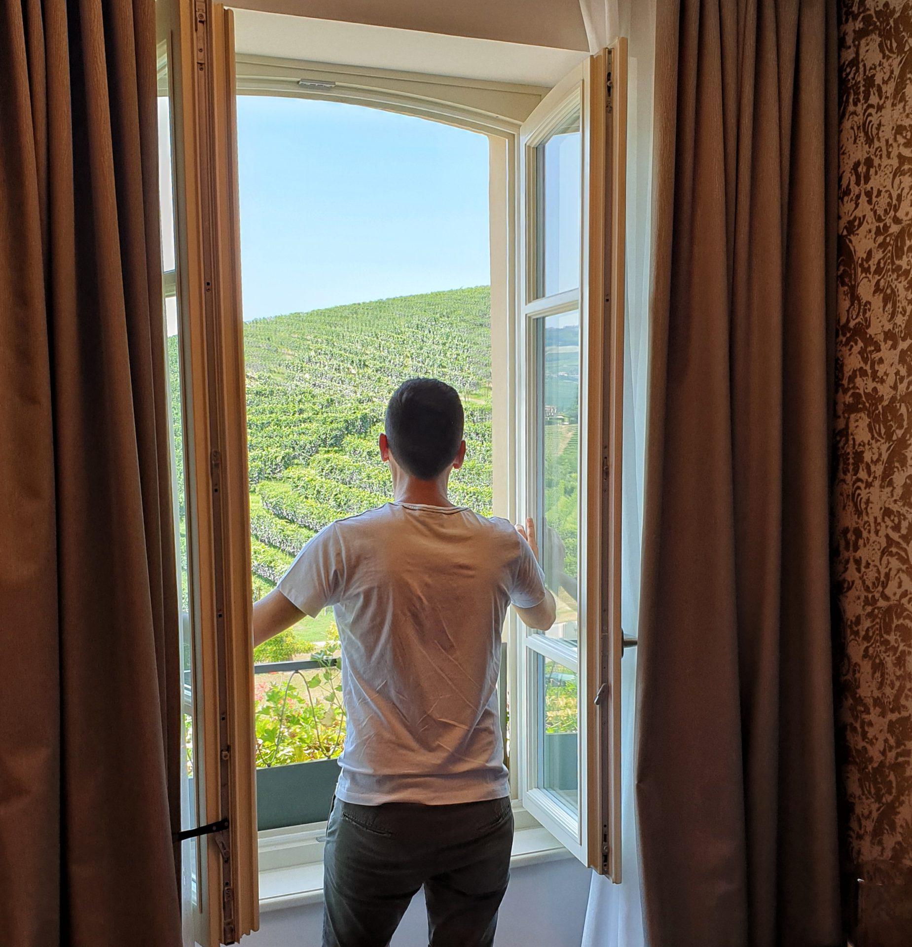 La vista dalla camera dell'Hotel Case dei Conti Mirafiore