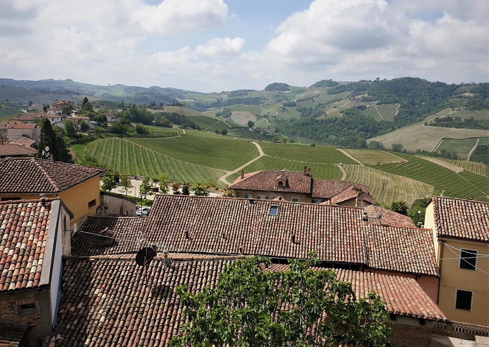 Il panorama dal castello di Serralunga d'Alba