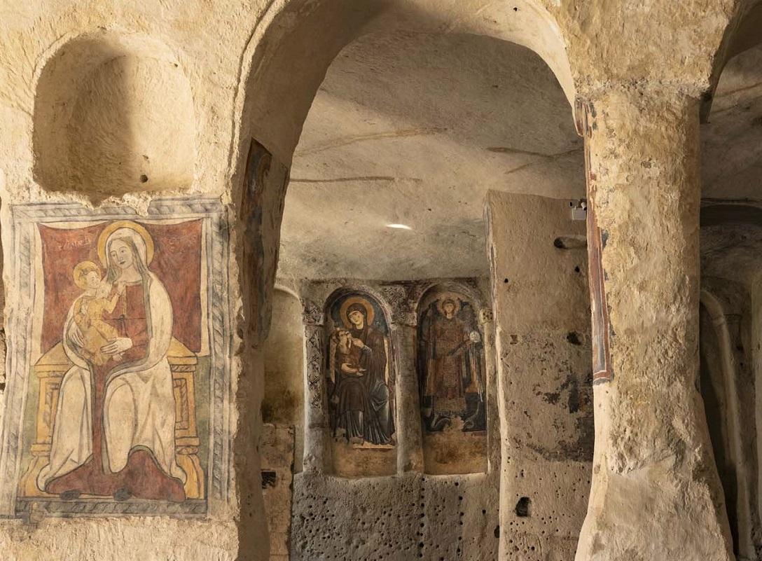 Chiese rupestri di Matera: interno di Santa Lucia alle Malve