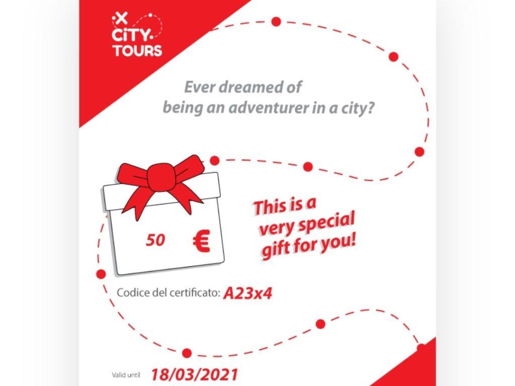buono voucher coupon regalo per viaggiatori
