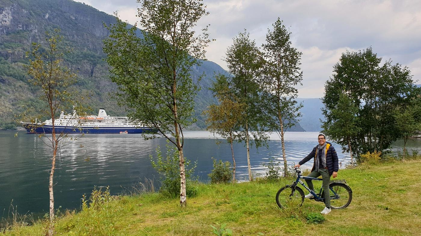 flam norvegia pista ciclabile noleggio biciclette