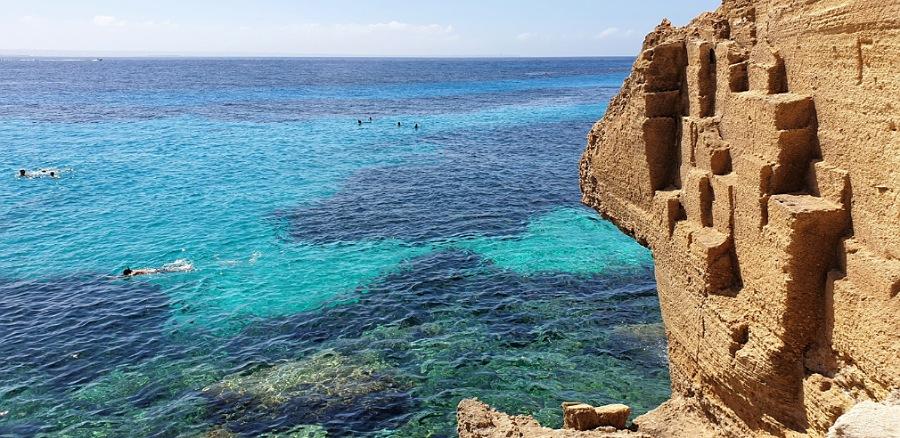 il mare a bue marino cala di Favignana