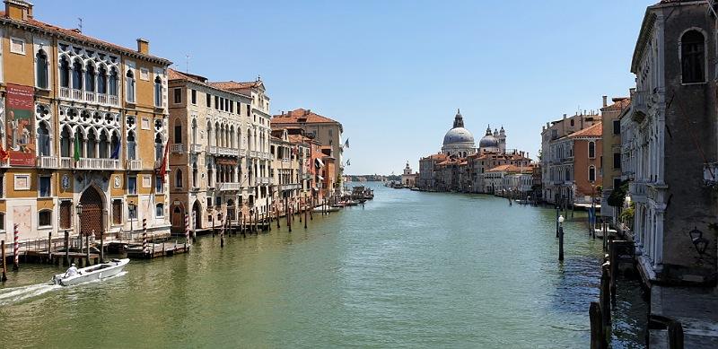 panorama dal ponte dell'accademia di venezia