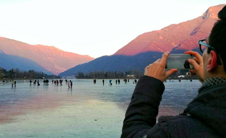 lago di endine ghiacciato_salire e pattinare