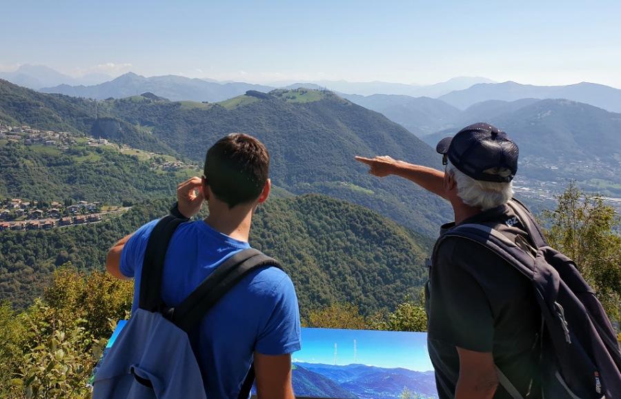 panorama dal monte purito in provincia di bergamo