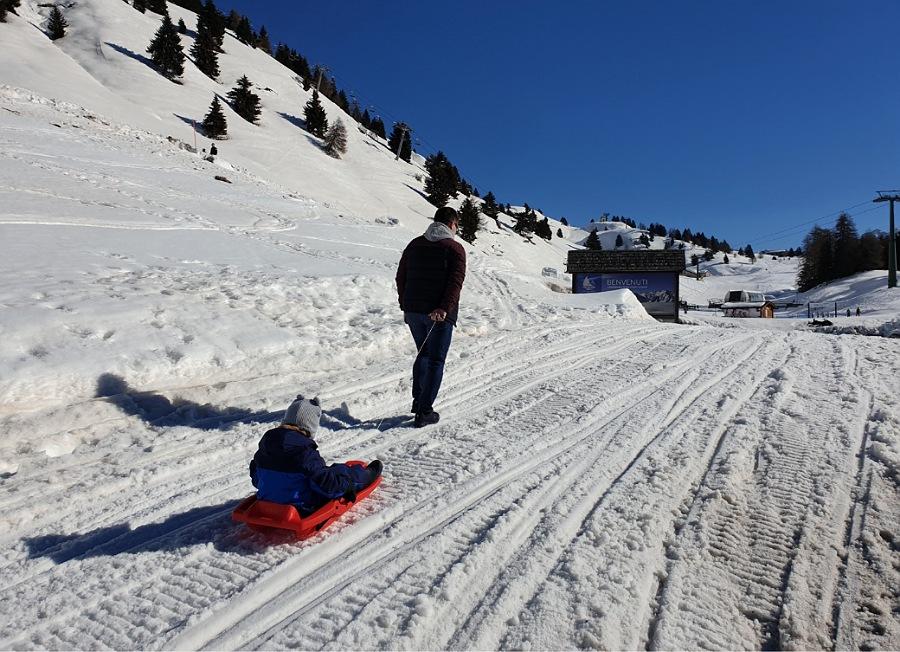 discesa di bob al passo del tonale_weekend sulla neve in lombardia