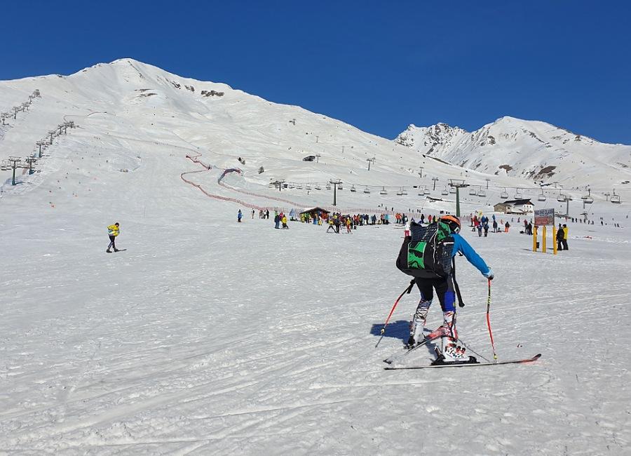 sciare al passo del tonale in inverno