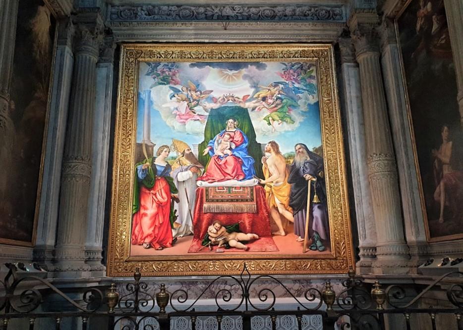 La tela di Lorenzo Lotto nella Chiesa di Santo Spirito