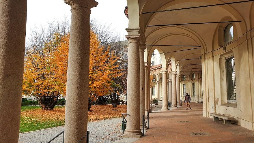 beautiful colonnade in milan_MUBA_rotonda della besana