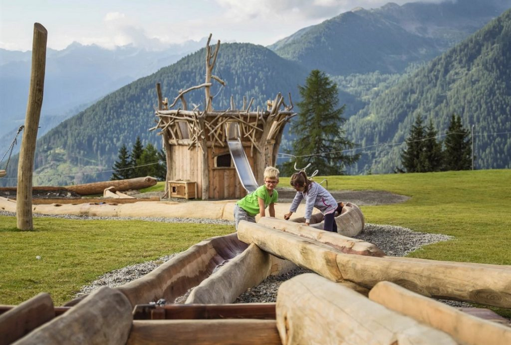 Parco giochi Kinderland in Val di Pejo_funivie_cosa fare in val di sole con i bambini