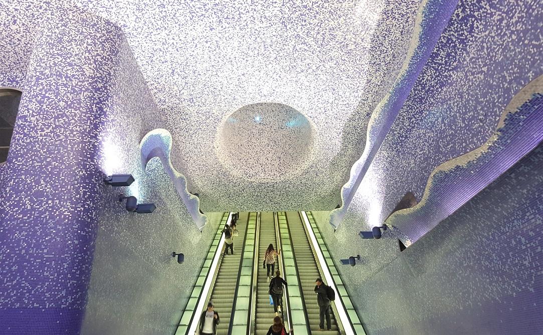 Fermata della metro in Via Toledo a Napoli