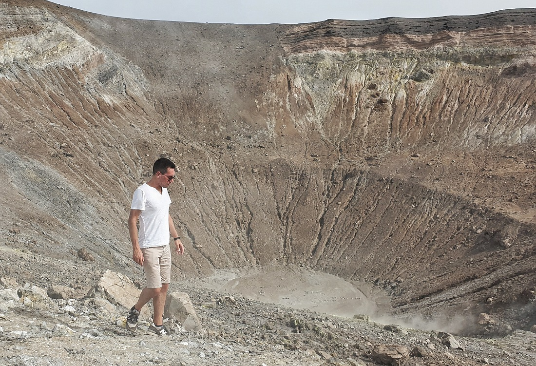 Il cratere del Vulcano alle Isole Eolie