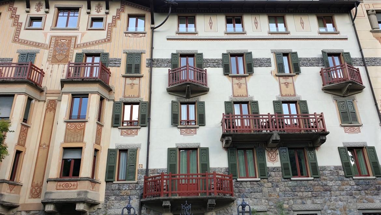 La facciata dell'Istituto Clinico Quarenghi a San Pellegrino Terme_Bergamo