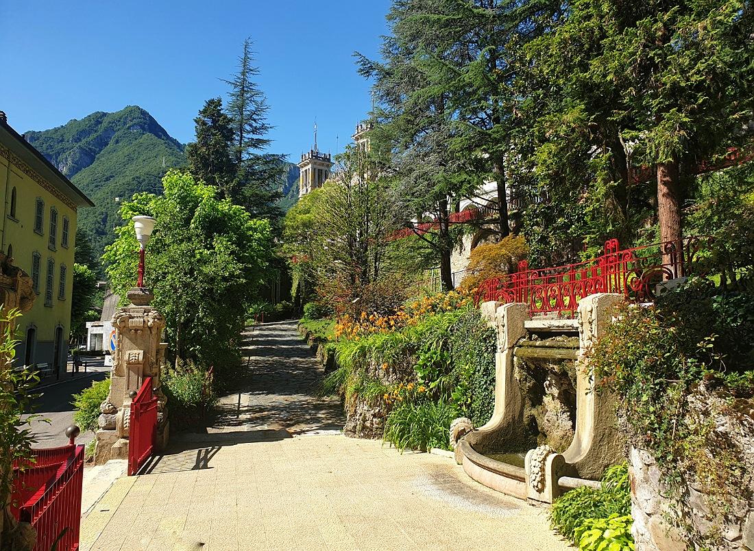 Ingresso alle terme di San Pellegrino_storia e turismo