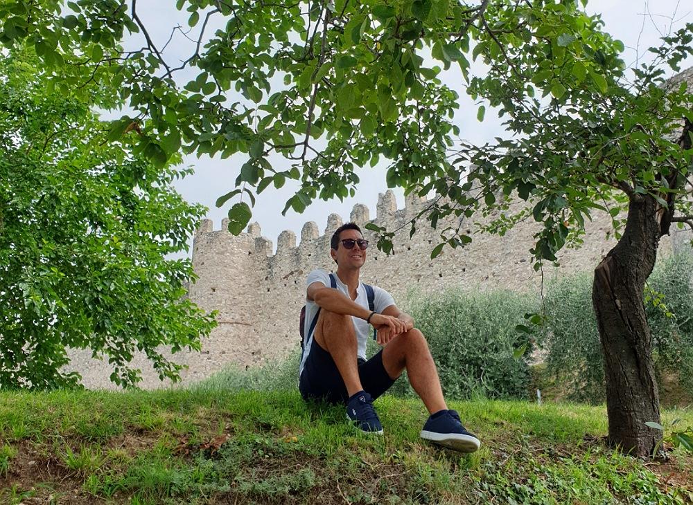 Il parco del Castello di Moniga del Garda