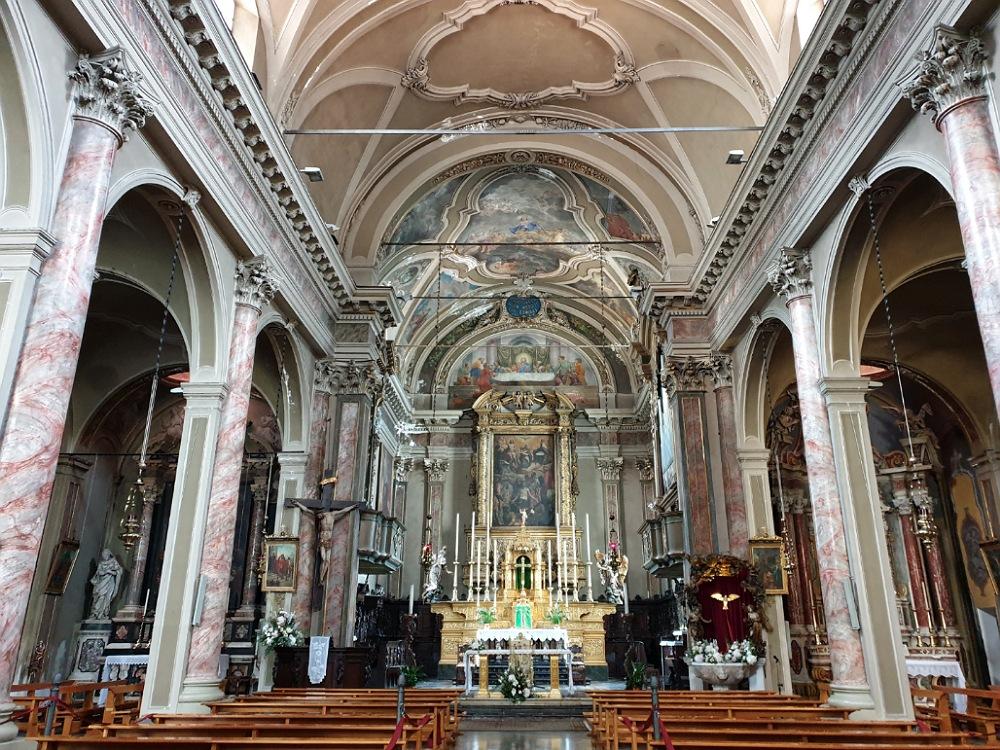 Interno della Chiesa di San Giorgio a Lovere sul Lago d'Iseo