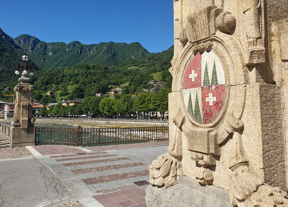 Pilone del ponte Umberto I a San Pellegrino Terme