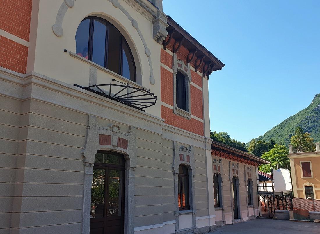 Stazione ferroviaria di San Pellegrino Terme_lavori di ristrutturazione_liberty a Bergamo