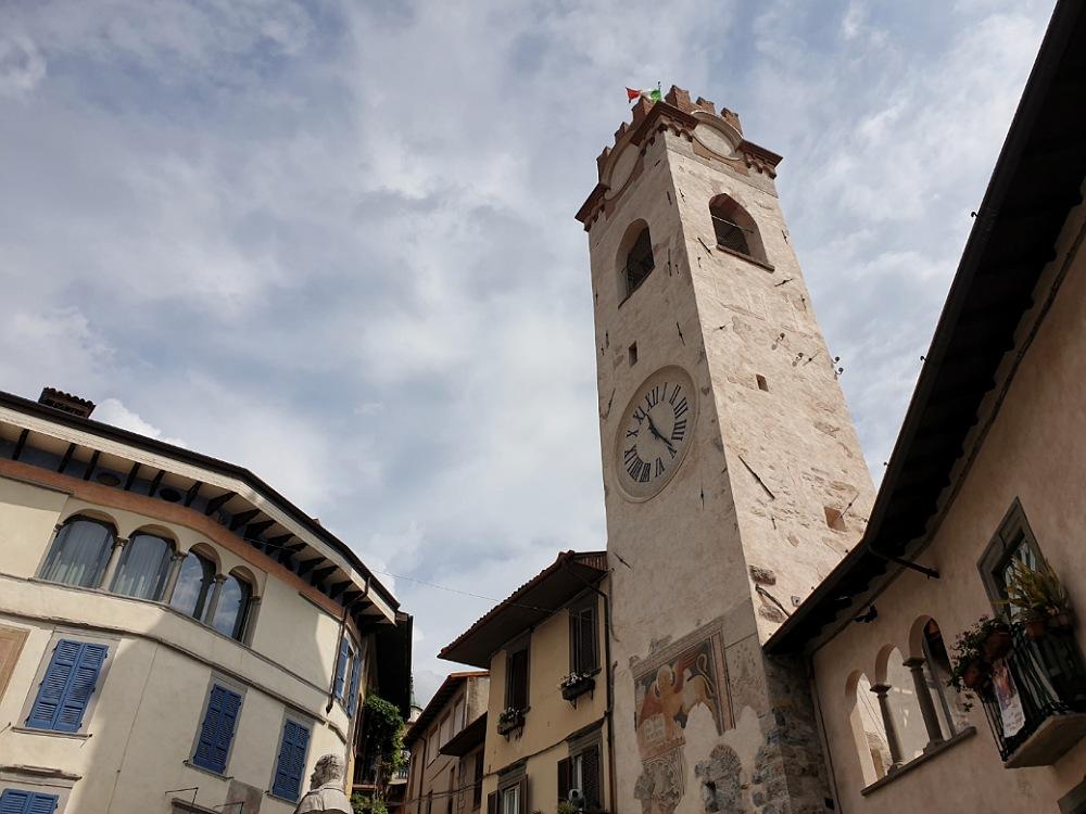 La Torre Civica in Piazza Vittorio Emanuele a Lovere Bergamo