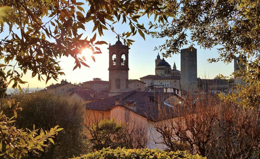 Bergamo alta, inserita tra i siti UNESCO della Lombardia per le mura veneziane